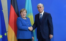 The President of Kazakhstan and the Chancellor of Germany held a joint press conference for the media