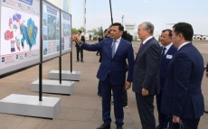 President of Kazakhstan Kassym-Jomart Tokayev familiarizes himself with Uralsk airport modernization project