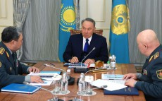 Meeting with Saken Zhasuzakov, Minister of Defense