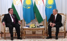 Meeting with the President of Tajikistan Emomali Rahmon, who arrived in Kazakhstan on an official visit