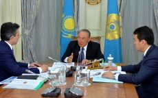 Meeting with the Finance Minister Bakhyt Sultanov