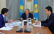 Meeting with Minister of National Economy Kuandyk Bishimbayev